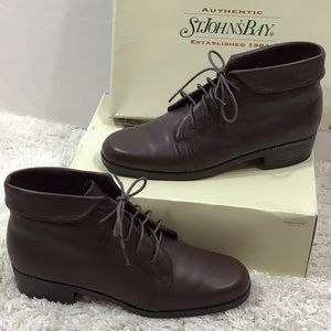St John's Bay dark brown bootie